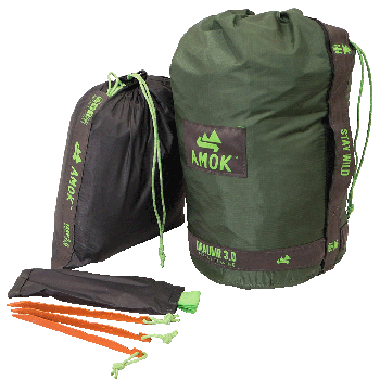 Amok Draumr 3.0 - green (with tarp, bug net and suspension)