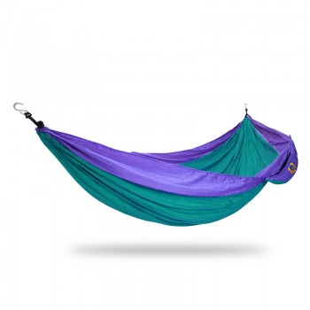 Ticket to the moon Single Hammock Green / Purple