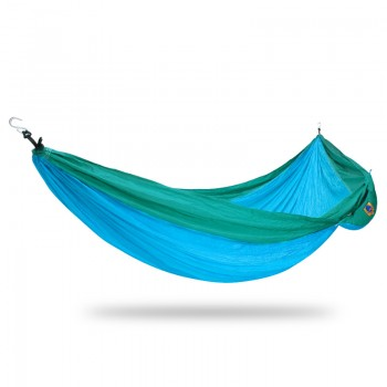 Ticket to the moon King Size Hammock - Turquoise/Green