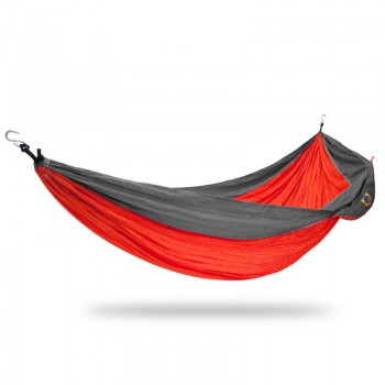 Ticket to the moon Single Hammock Orange / Dark grey
