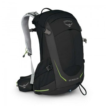 Osprey Stratos 24L Hiking Backpack Black